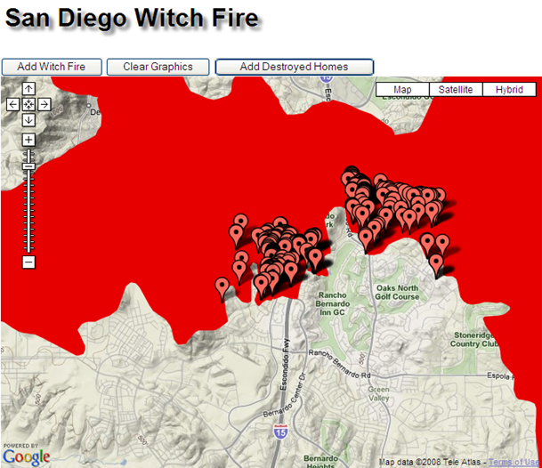 Building a Wildfire Mashup with ArcGIS Server and Google