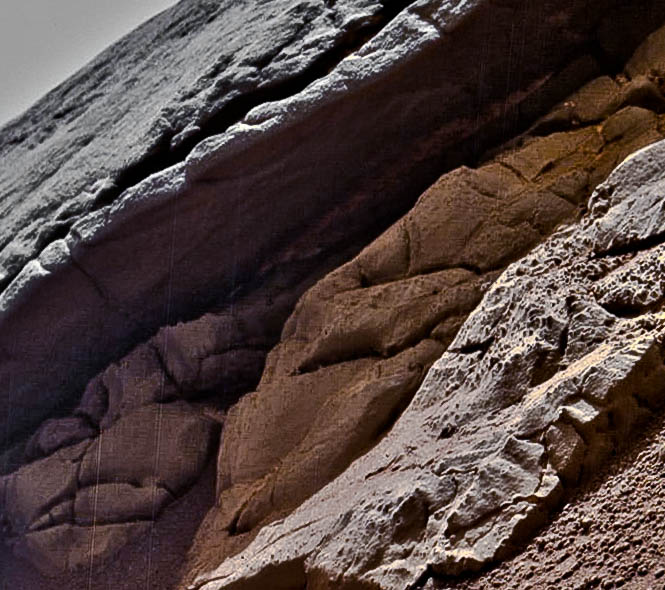 Rock ledge, sol160