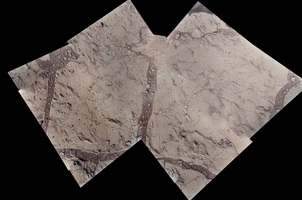 Mosaic of MAHLI images of potentail drill site, sol 168