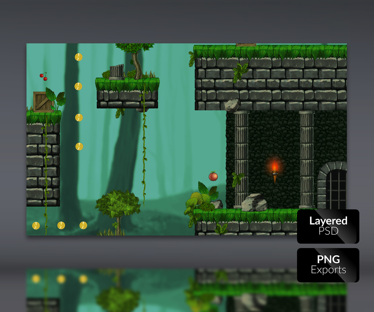 Abandoned Castle -Platform Tileset - Game Art Partners