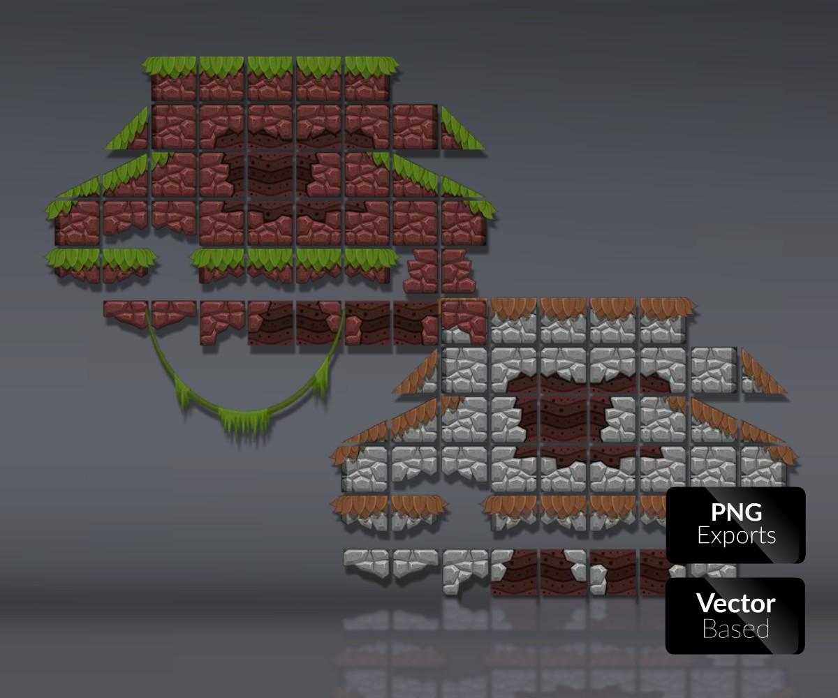 The Jungle – Platformer Tileset - Game Art Partners