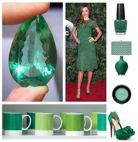 montagem verde esmeralda