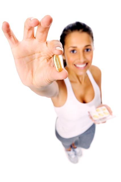 Mulher com pílula