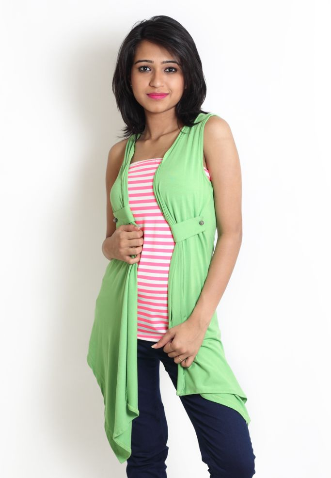 Compare price of Globus Green Coloured Top With Customize via Compare Hatke