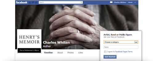 Example of a Facebook Author Page