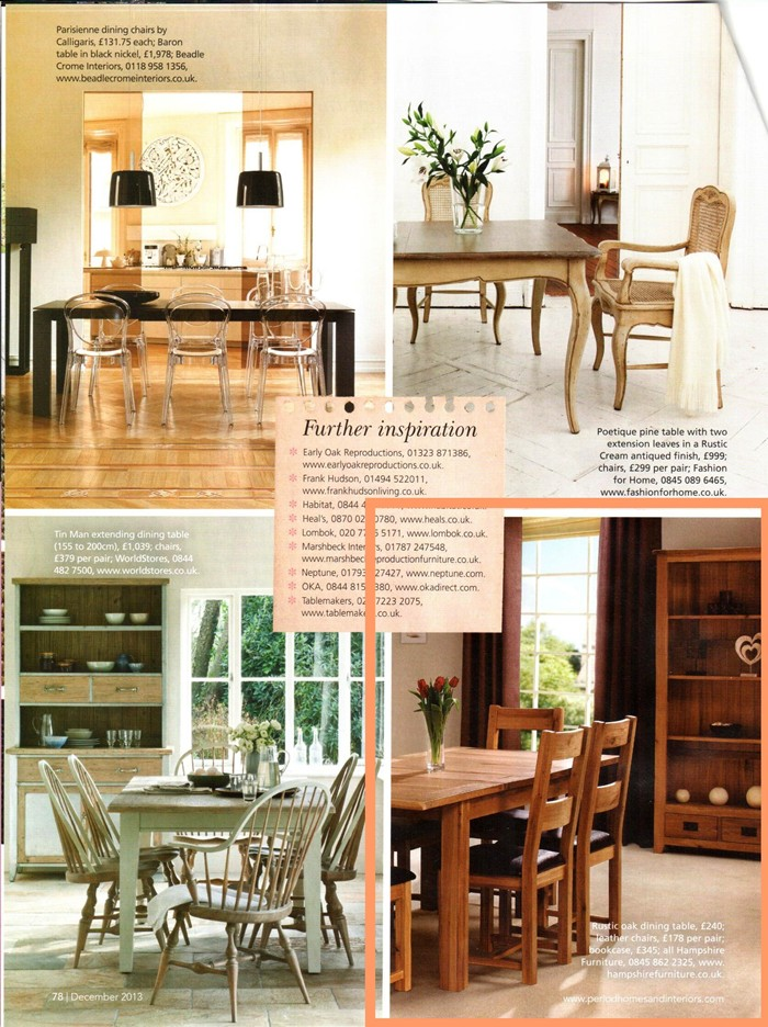 press feature period homes and interiors magazine december 2013 hampshire furniture. Black Bedroom Furniture Sets. Home Design Ideas