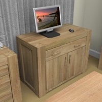 Funky Retro Oak Hidden Home Office Desk