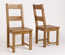 Rustic Oak Timber Dining Chairs