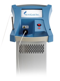 The PinPointe™ FootLaser®, seen here, passes through the nail without damaging surrounding skin and targets the fungus living in and under the nail, says Nuvolase, Inc.