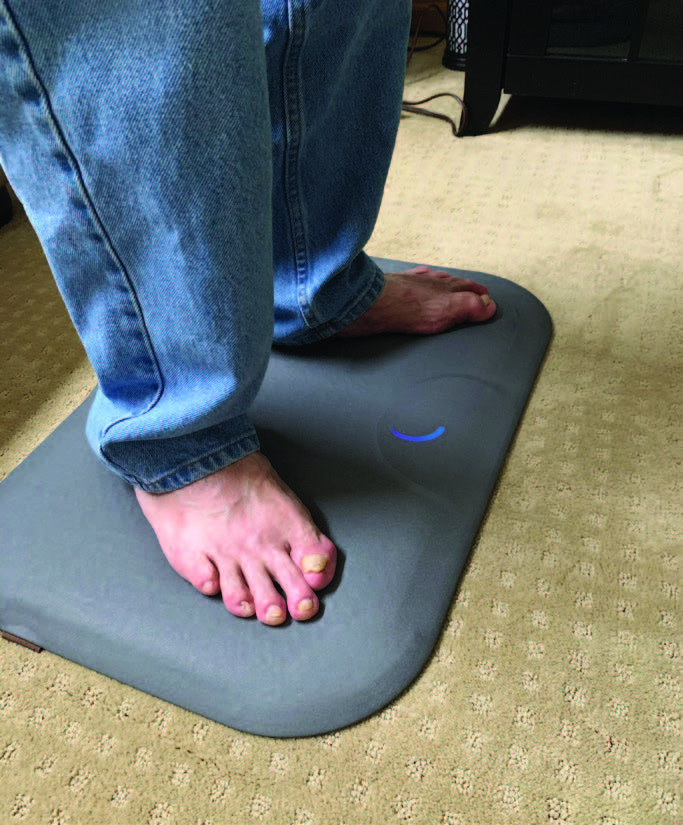 The Podimetrics SmartMat helps monitor daily foot temperatures. One multicenter study found that this system detected 97 percent of DFUs nearly six weeks before the clinical appearance of an ulcer. (Photo courtesy of Podimetrics)