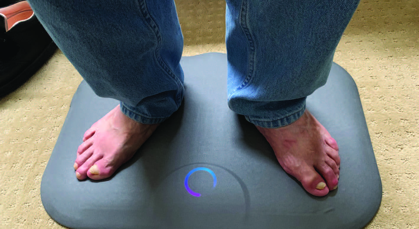 After a year-long prevention-focused program including daily foot temperature monitoring in 80 patients with healed diabetic foot ulcers, the results reportedly showed a complete elimination of major amputations. (Photo courtesy of Podimetrics)