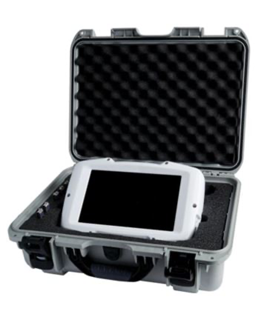 Figure 2a. NIRS device in carrying case with charger and USB portable drives
