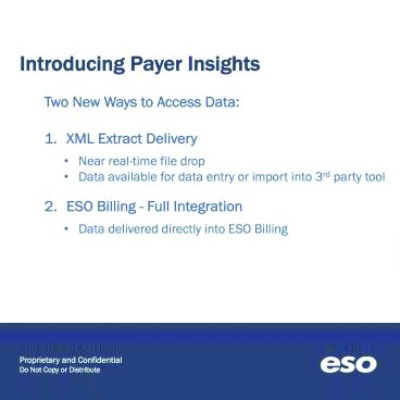 ESO Solutions payer insights