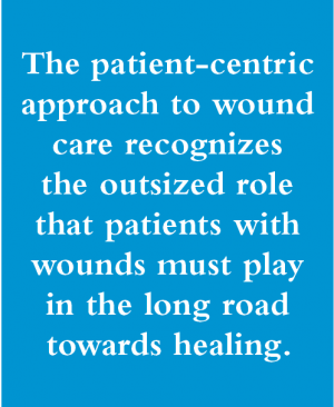 The patient-centric approach to wound care recognizes the outsized role that patients with wounds must play in the long road towards healing.