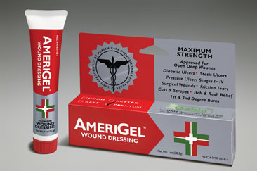AmeriGel (AmerX Health Care) contains Oakin™, an oak extract with natural tannins that have reportedly been proven to reduce infections and inflammation, and speed healing.
