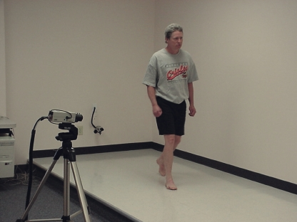 After performing a full lower extremity biomechanical exam, we often perform a video gait analysis in our practice to assess patients' running mechanics. (Photo courtesy of David Levine, DPM, CPed)