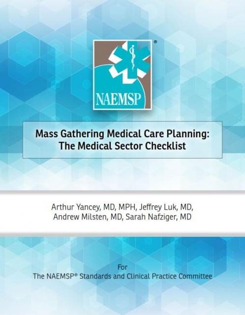 Mass Gathering Medical Care Planning: The Medical Sector Checklist