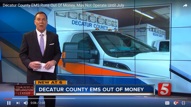 Decatur County EMS Runs Out Of Money, May Not Operate Until July