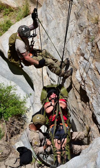 Rope rescue techniques are one of 39 skill requirements that PJs must maintain.