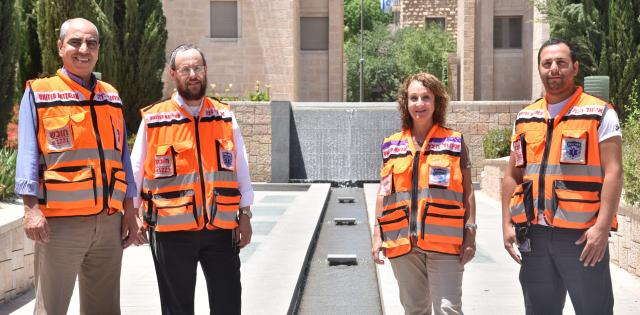 Arab orthodox woman secular United Hatzalah responders