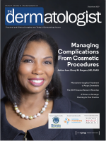 Dr Cheryl M. Burgess on the cover of The Dermatologist