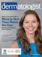 Maria A. Leszczynska, MD, on the cover of The Dermatologist