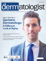 Dr Daniel Butler on the cover of The Dermatologist