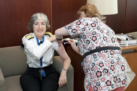 CDC deputy director gets flu shot
