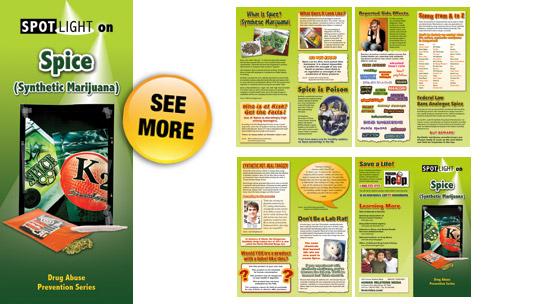 spotlight on spice  synthetic marijuana  pamphlets