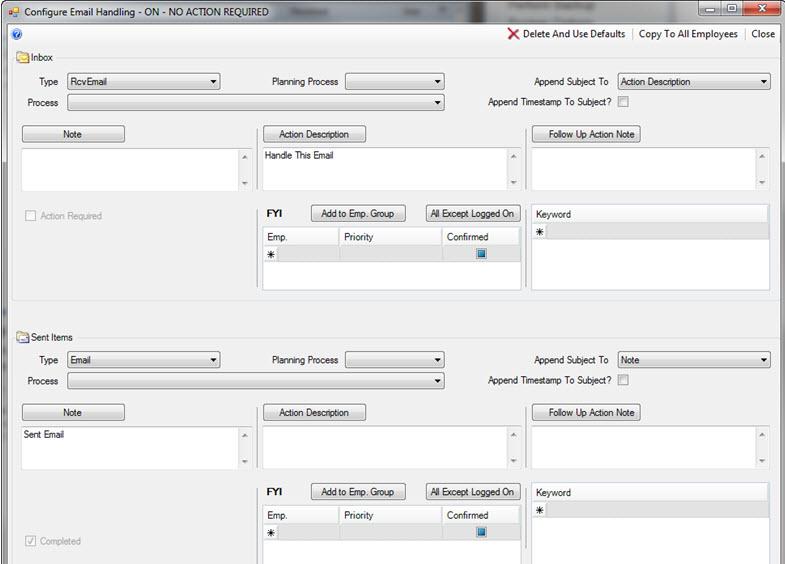 Junxure Email Setup