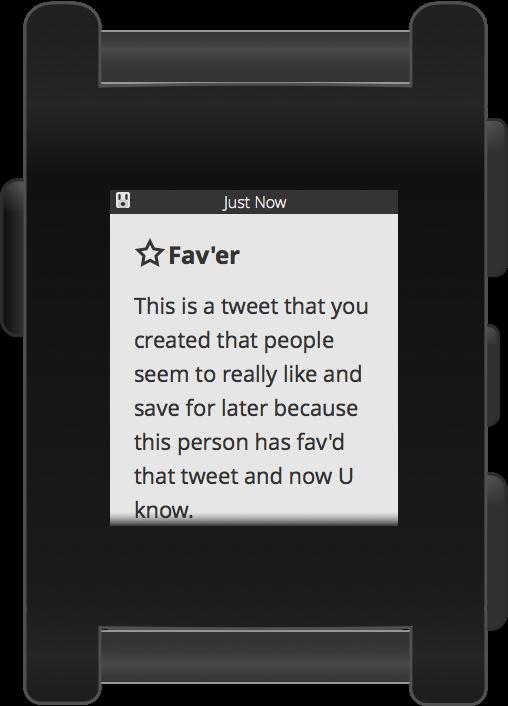 Pebblebot Fav Screen
