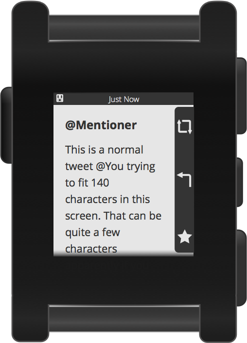 Pebblebot Mention Screen