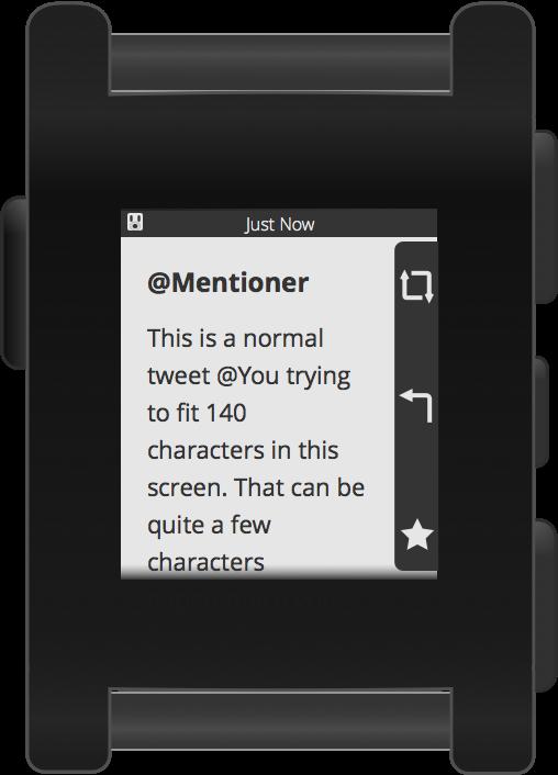 Pebblebot Mention Screen