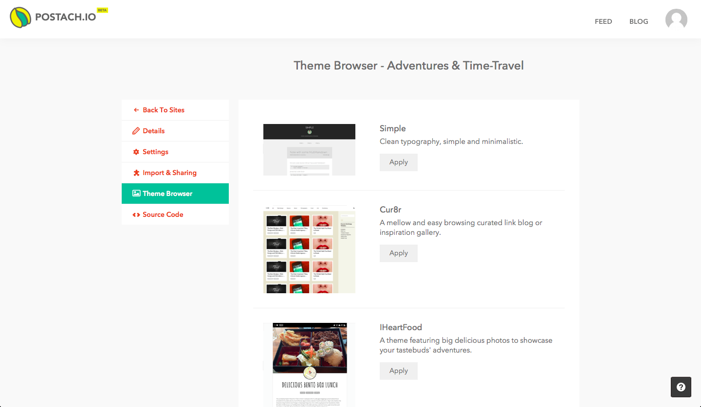 Theme Browser