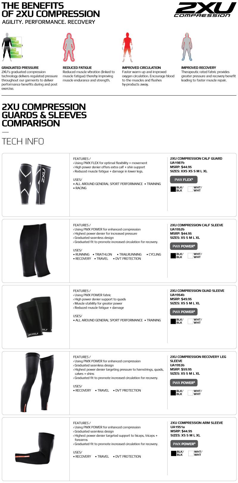 469368159b Amazon.com: 2XU Recovery Compression Leg Sleeves: Clothing