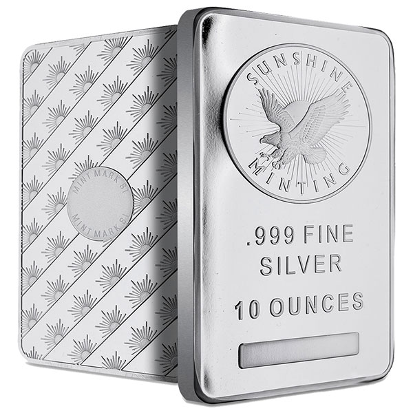 10 Oz Silver Bar Silver Bars For Sale Money Metals