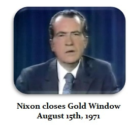 Richard Nixon closes Gold Window