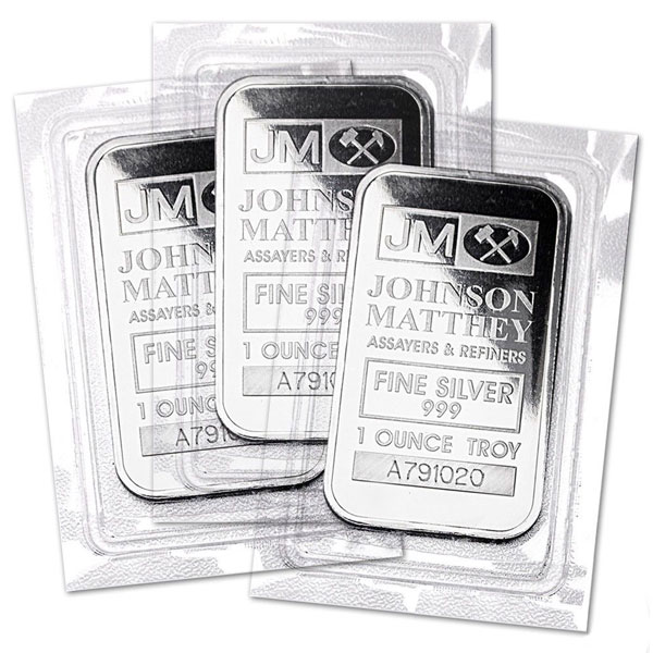 Johnson Matthey 1 Oz Silver Bars