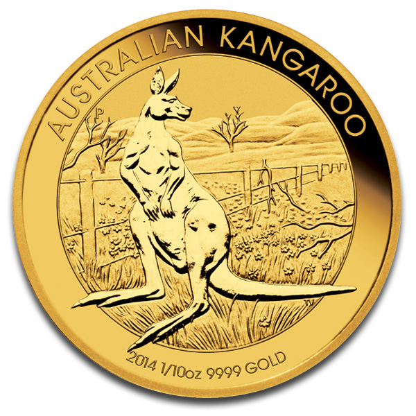Buy Australian Kangaroo Gold Coin (1/10 Oz) Coins