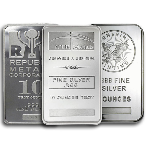 10 Oz Silver Bar Silver Bars For Sale Money Metals