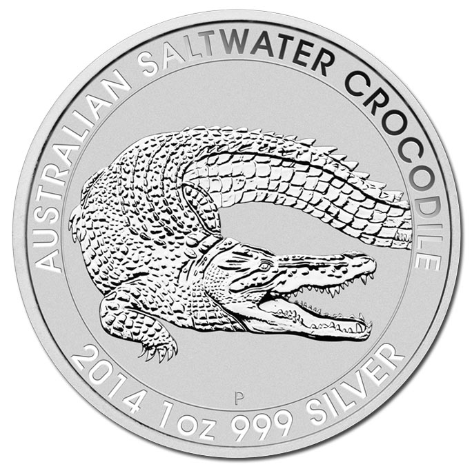 Australian Saltwater Crocodile 1 Oz Silver Coins from the Perth Mint