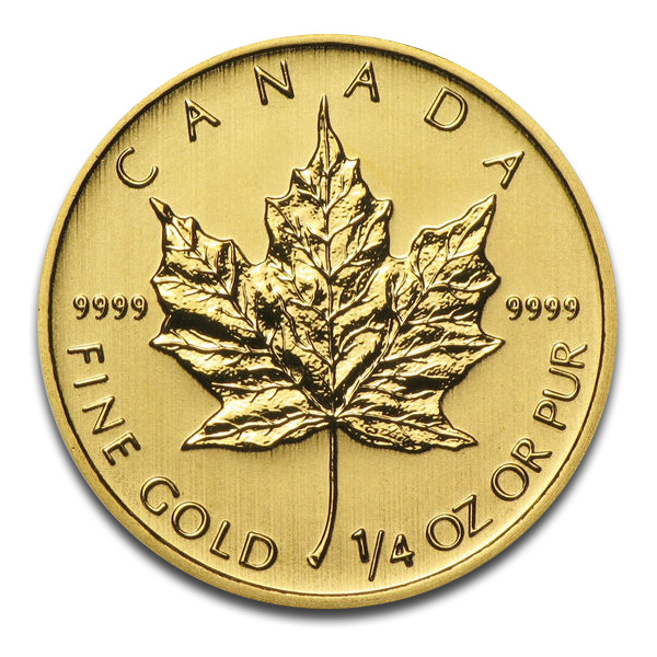 Gold Maple Leaf Coins | 1/4 Oz Canadian Maple Leaf Gold Coin