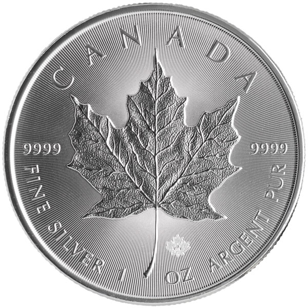 Buy Canadian Maple Leaf Silver Coin (1 Oz) Coins