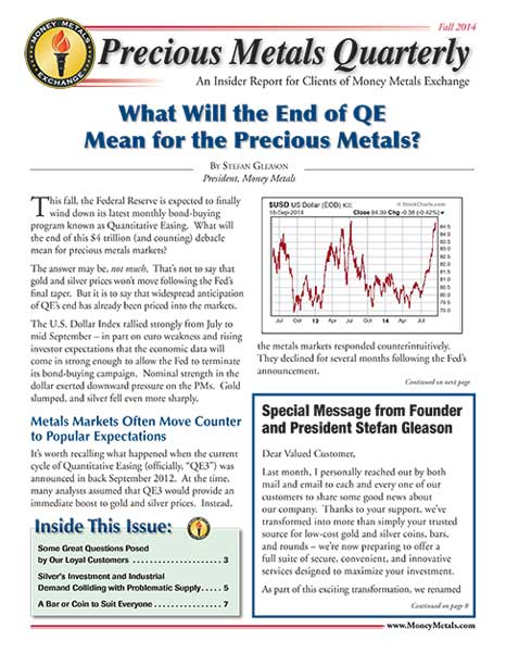 Money Metals Insider - Fall 2014