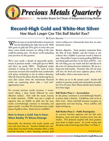 Money Metals Insider - Fall 2010