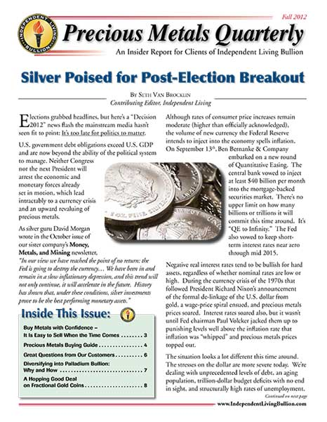 Money Metals Insider - Fall 2012