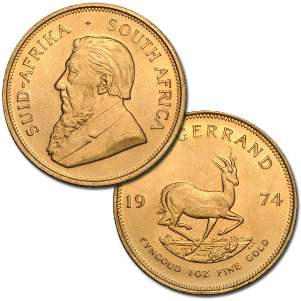 Buy South African Krugerrand Gold Coin (1 Oz) Coins