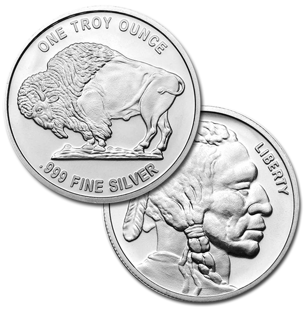 Silver Buffalo Rounds Buy 1 Oz Silver Rounds Money Metals