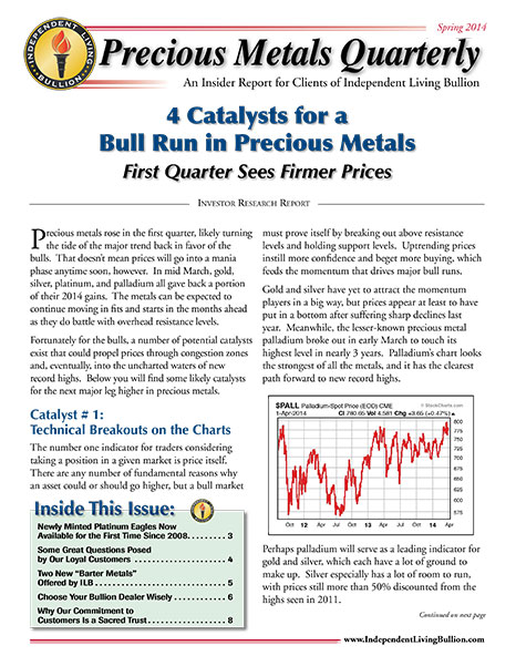 Money Metals Insider - Spring 2014