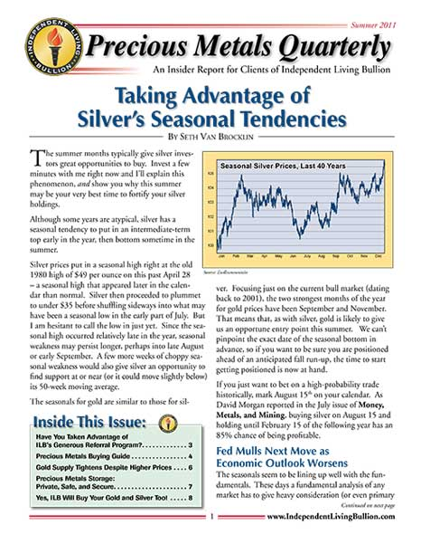 Money Metals Insider - Summer 2011